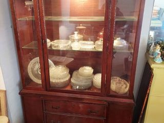 lighted China Cabinet   Contents Not Included