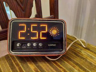 lumitime Orange Mid century Clock