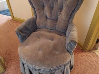 Blue Chair   Heart Shaped Back