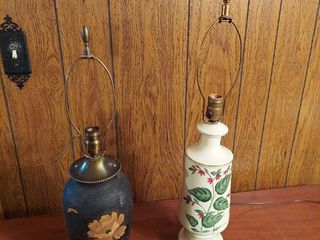 2  lamps   Includes 2 Shades But May Not Be Original