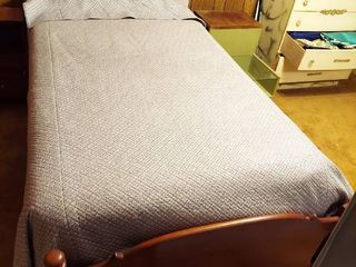 Twin Size Bed with Mattress Set and Bedding
