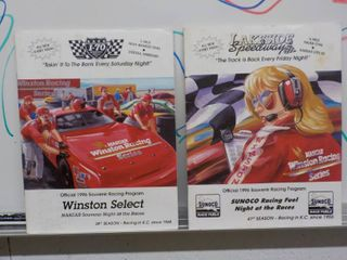 2   1996 Souvenir racing program Magazines I 70 Speedway and lake Side Speadway