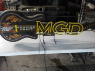 Miller MGD Genuine Draft Guitar Neon