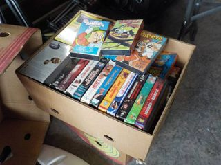large box of VHS tapes