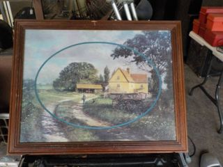framed farmhouse picture