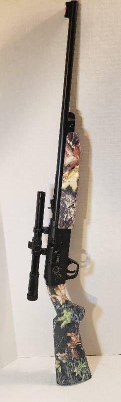 Grizzly Daisy Model 840 BB Gun w Daisy 4x15 Scope   Pump Action   Mossy Oak Camo   35 5 in  long