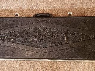 Black Hard Plastic Rifle Case by Gun Guard w Gray Egg Crate Foam Interior   52 x 11 5 x 4 in  tall   all 4 clips work properly