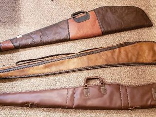 3 Soft Side Rifle Cases  52 in  Browning  50 in  Tan  and 46 in  Allen Model 526   all zippers work
