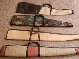 4 Soft Side Rifle Cases   2  46 in  and  2  40 in    all zippers work