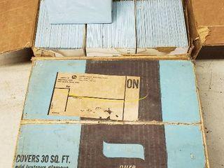 Vintage lt  Delph Blue Plastic 4 x 4 Wall Tile   2 cases plus one Sleeve   each case covers 30 sq  ft