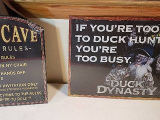 2 New Metal Sign  Man Cave   Duck Dynasty