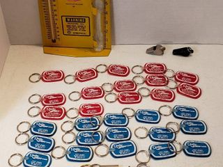 Southwestern Bell Weather Gauge  2 Acme Whistles  Numerous Quality Chevrolet Keychains and Boeing Keychain