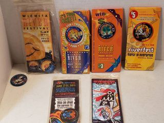 Wichita Riverfestival Buttons  2002   2005  2008  2011 and 2012