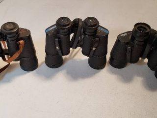 3 Pair of Binoculars   All 7x35s  Jason  Tasco and Daylite