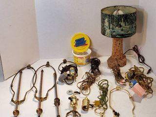 Vintage Table lamp  works  and lamp Repair Parts