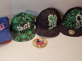 6 Baseball Caps   Various logos and US Judo Patch