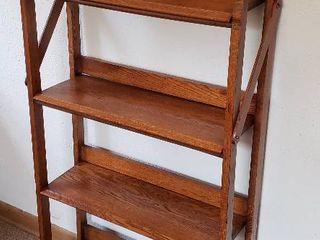 Custom Made Oak 4 Shelf Bookcase   26 x 9 x 53 in  tall