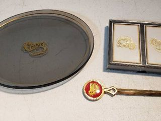 Chance Memoribilia  Coin Tray  letter Opener and Decks of Playing Cards