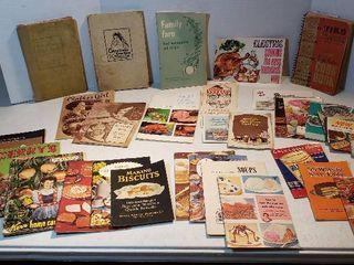 Vintage Cookbooks and Pamphlets