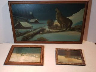 3 Versions of lone Wolf Artwork