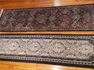 2 Area Rug Runners   25 x 88 in  and 23 x 93 in