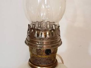 Electrified Oil lamp   16 in  tall   works