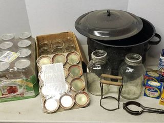 Canning Jars   lids  and 3pc  21 5 qt  Canner