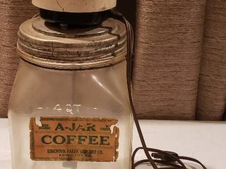 Antique A Jar Coffee Grinder  electric