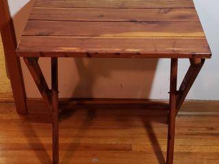 Custom Made Cedar Fold Up Side Table   24 x 15 5 x 26 in  tall