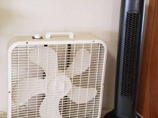 Holmes Tower Fan and lakewood 3 speed Box Fan