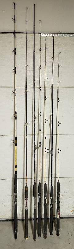 7 Fishing Poles   No Reels