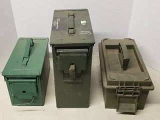 3 Ammo Containers or Storage Boxes