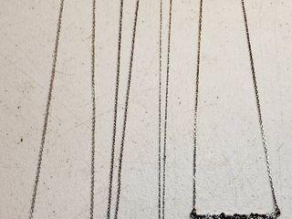 4 ladies 925 Silver Necklaces