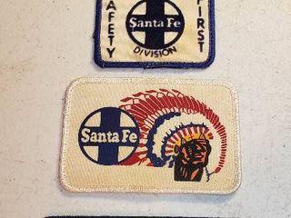 Vintage Santa Fe RR Cloth Patches