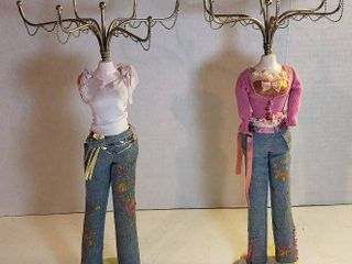 2 Fashionable Necklace Holders   15 in  tall