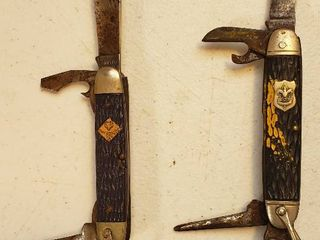 2 Scout Pocket knives   Camillus Boy Scout 4 blade and Cub Scout 3 Blade