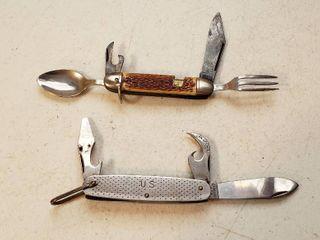 2 Camping Pocketknives   Camillus 1960   Colonial