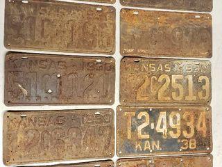 1930s license Plates   Kansas