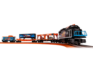 lionel Hot Wheels Electric O Gauge Model Train Set with Remote and Bluetooth Capability
