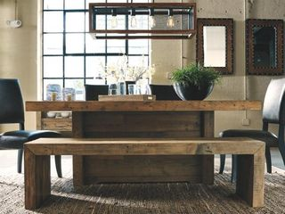 Signature Design by Ashley 65  Sommerford Wood Dining Bench  Brown Finish