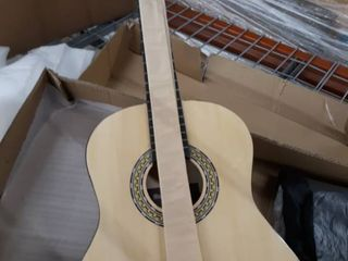 Beginner 36a Classical Acoustic Guitar   6 String Junior linden Wood Traditional