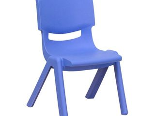 4 Pack Kids Chair Set  Flash Furniture Stacking Student Chair   Blue