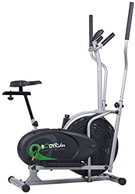 Body Rider Elliptical Trainer and Exercise Bike with Seat and Easy Computer   Dual Trainer 2 in 1 Cardio Home Office Fitness Workout Machine BRD2000