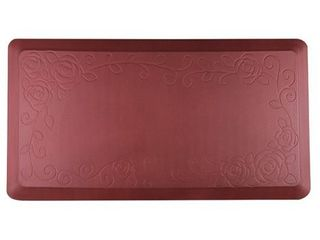 Cook N Home Anti Fatigue Premium Comfort Kitchen Floor Mat  39 x 20  Red Rose