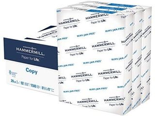 Hammermill Printer Paper  20 lb Copy Paper  8 5 x 11   3 Ream  1 500 Sheets    92 Bright  Made in the USA