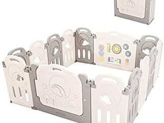Fortella Cloud Castle Foldable Playpen  Baby Safety Play Yard with Whiteboard and Activity Wall  Indoors or Outdoors Retails   179  14 Panel
