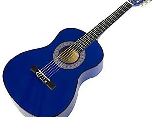 Music Alley Ma 34 bl Acoustic Beginner Guitar Pack Blue