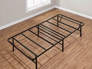 Mainstays 14  High Profile Foldable Steel Bed Frame  Powder coated Steel  Twin