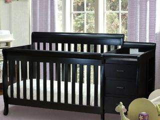AFG Convertible Crib and Changer Black