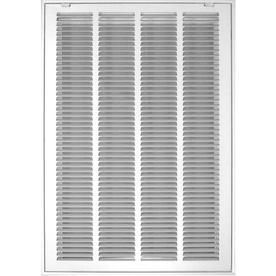 Accord Ventilation White Steel louvered Sidewall Ceiling Grilles  Rough Opening  30 in x 20 in  Actual  32 57 in x 22 57 in